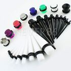 23 Pc Ear Taper Stretching Kit + PLUG set 1.6mm-10mm Gauges Expanders Stretchers