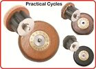 Gilles Berthoud Leather Bar End Plugs (PAIR) ROAD or MTB Cork Leather Natural