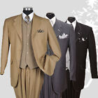 Men's 3 piece 3 button Milano Moda Elegance Wool Feel Suit  29092