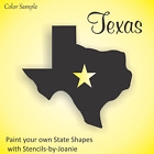 Texas STENCIL State Shape Lone Star Country Western Cowboy Barn Home Dallas Art
