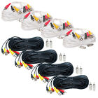 4 x Security Camera Audio Video Power Cables Extension Surveillance RCA BNC Wire