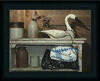 A Few Treasures by Billy Jacobs Antique Quilt Goose Crock 16x12 Framed Art Print