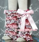 Baby Girl Purple Leopard Light Pink Lace Leg Warmer Stocking For Pettiskirt 2-6Y