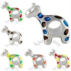 Wholesale Lot 10pcs Giraffe Silver European Spacer Charm Beads For Bracelet