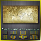 World Map Grunge Abstract Modern Contemporary Canvas Wall Art More Size & Color