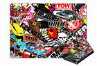 Laptop Sticker Skin Sticker Bomb Style Self Adhesive vinyl Various Sizes