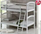 White Bunk Beds - Single Wooden Bunk Bed - Mattress, Trundle, Drawers Optional