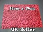 LARGE FURRY FABRIC RED ANIMAL PRINT CRAFT MOBILE SKIN DECAL STICKER 28cmx19cm UK
