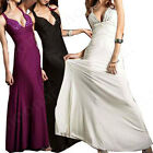 Prom Deep V Bead Cross Back Evening Party Formal Gown A-line Long Dress Cocltail