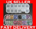 3000 Crystal Flat Backed Acrylic Rhinestones Gems 12 Colours 1.5 mm - 2.0 mm kit