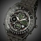 Fashion Digital Analog Steel Alarm Date Day ARMY Mens NEW Sport Gift Wrist Watch