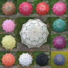 Battenburg Lace Cotton Embroidery Wedding Umbrella Bridal Parasol Photo Props