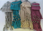 Ladies Fashion Scarf with Beaded Ends