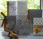 Demask Handmade Wedding Stationery for marriage - traditional invitation, ribbon