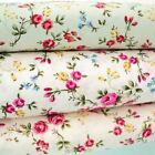 MISS JANE - SMALL FLORAL COTTON FABRIC per m SHABBY VINTAGE CHIC patchwork