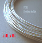 5 ft Pure .999 Silver Round Wire Dead Soft from 8 to 24 Gauge, Made In USA