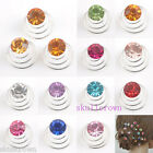 12/36pcs Bride Wedding Crystal Coils Twists Spirals Hairpin 11 Colors Wholesale