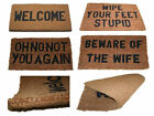 QUALITY LARGE HEAVY DUTY WELCOME COIR OUTSIDE ENTRANCE FRONT DOOR MAT SIGN