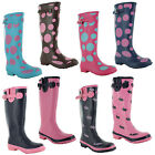 New Ladies Wellington Festival Wetlands Rain Wellies Rubber Boots UK 3 4 5 6 7 8