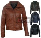 LADIES FAUX LEATHER BOMBER JACKET WOMENS PVC BIKER JACKET 4 COLOURS SIZES 8-16
