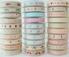 BY THE METRE - BERISFORDS NATURAL CHARM RUSTIC VINTAGE COUNTRY CHRISTMAS RIBBON