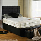 """NEW 4ft 6"""" Double 3500 POCKET SPRUNG & MEMORY FOAM DIVAN BED Free Next Day"""