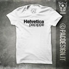 T-SHIRT HELVETICA ADDICTED NERD HIPSTER GRAFICO WHY SO HAPPINESS