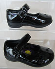 Spot On Girls Black Patent School Shoes With Stitched Butterfly Detail - H2237