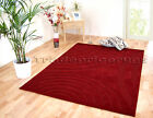 SMALL - EXTRA LARGE THICK SOFT RUG DARK RED SWIRL PATTERN MAT INC FREE DELIVERY