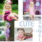 New Baby Girl Lace Posh PETTI RUFFLE ROMPERS One piece Out-fit size 0000,000,00