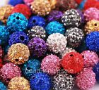10pcs High Quality Polymer Clay Ball Crystal Rhinestone Spacer Beads 22 Colors
