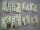 "RIGHT or LEFT 4"" & 3"" POLISHED BRASS STEEL RISING DOOR BUTT HINGES X 1 PAIR"