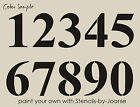 STENCIL Block Numbers Paris Bride Lake House Primitive Table Signs Bold Address