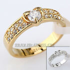 A1-R015 Fashion Engagement Wedding Band Ring 18KGP use Swarovski Crystal