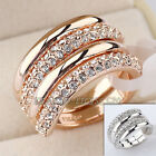 B1-R440 Fashion Wedding Ring Set 18KGP use Swarovski Crystal