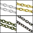 5 Mtrs Metal Flat Crossed Chain - 1.5x2.5mmx0.6mm -  Various Colour