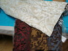 JCPenney WOVEN SCROLL Matte/Satin Lined ROMAN FABRIC SHADES