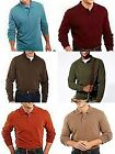 St. Johns Bay Solid Long Sleeve Mens 4XL or 3XLT Sueded Polo Shirt choice NWT