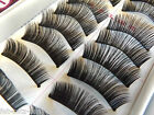 10 Pairs Thick Natural Fake False Eyelashes Eye Lashes UK Seller Free P&P & Glue