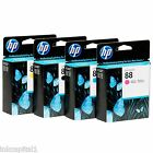 HP No 88 Mult Pack Set of 4 Original OEM Inkjet Cartridges B,C,M,Y Officejet Pro