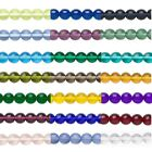 Внешний вид - 16 inch Strand Round Czech Glass Druk Beads In Many Transparent Colors & Sizes