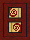 BURGUNDY red BEIGE black SPIRAL modern CONTEMPORARY abstract LINES area RUG