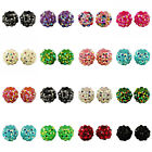 12mm Shamballa Acrylic Rhinestone Disco Ball Beads x50 Beads
