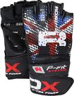 Auth RDX Leather Gel MMA UFC Grappling Gloves Fight Boxing Punch Bag Muay Thai K