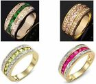 Size 6-10 Jewelry Fashion Elegant AAA Sapphire 10KT Gold Filled Ring Party Gift