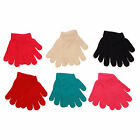 Ladies / Women Winter Plain Magic Gloves