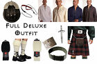 8 Yard Scottish Kilt Package, Complete Deluxe Casual Outfit, MacDonald Tartan