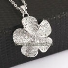 P275 Fashion  Flower  Necklace Pendant use Swarovski Crystal