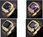 Size 8 To 12 Jewelry Sapphire/Garnet 10KT Man's Gold Filled Ring Wedding Gift