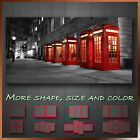 ' London Phone Box ' Modern Abstract Contempory Wall Art Canvas ~ More Style